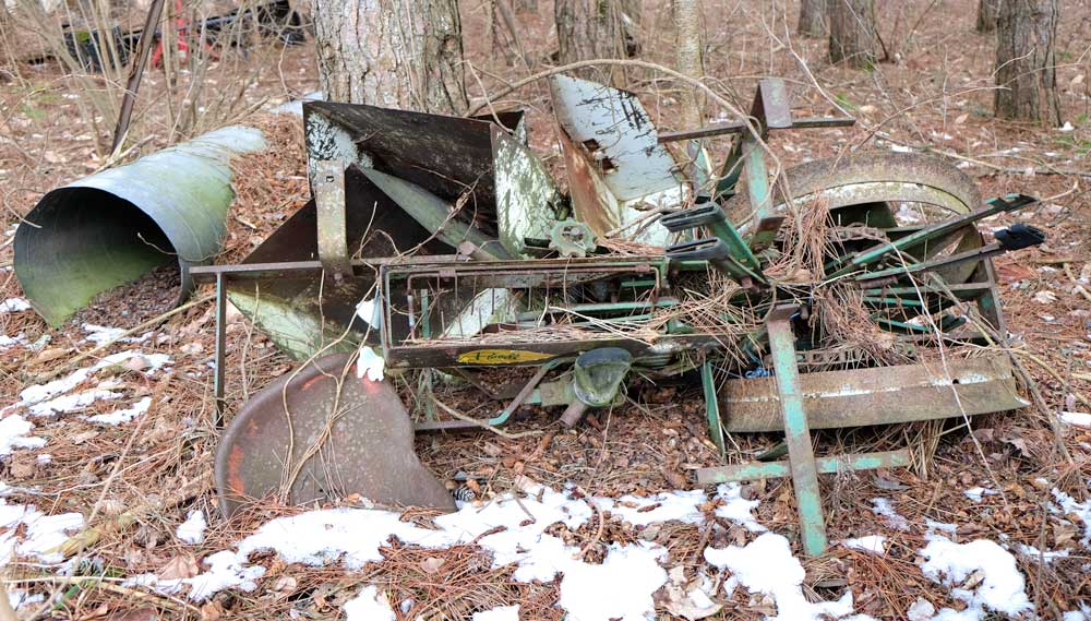 Farm Machines of Yesteryear. Stubborn Bones Have Earned Their Rest.